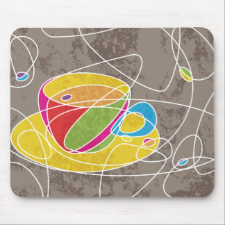 retro COFFEE shapes Mouse Pad