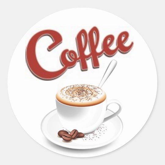 Retro Coffee Stickers