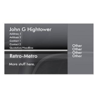 Rétro collection de métro cartes de visite professionnelles