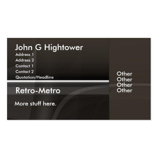 Rétro collection de métro carte de visite