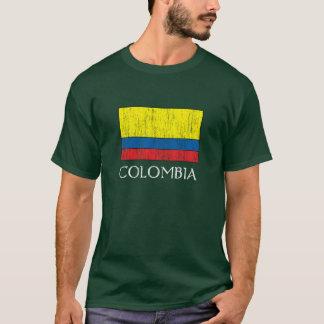 Retro Colombia Flag T-Shirt