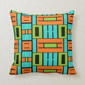 Retro Color Block Pillow