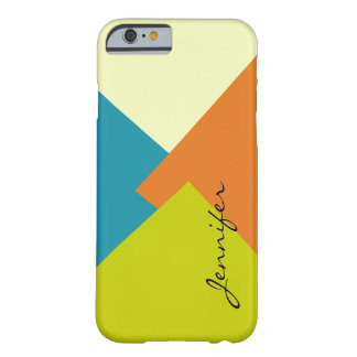 Retro Color Geometric Pattern Barely There iPhone 6 Case