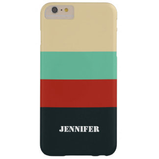 Retro Color Stripes iPhone 6 Case, Barely There Barely There iPhone 6 Plus Case