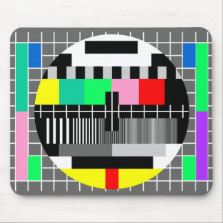 Retro color tv test screen mouse pad