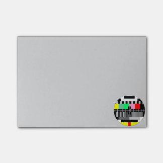 Retro color tv test screen post-it® notes