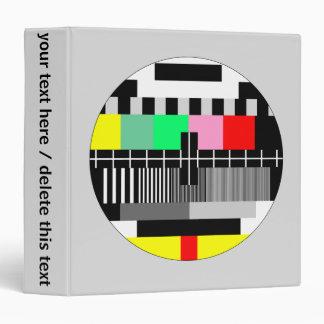 Retro color tv test screen vinyl binder