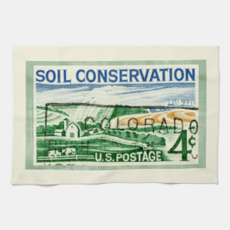 Retro Colorado Soil Conservation Hand Towels