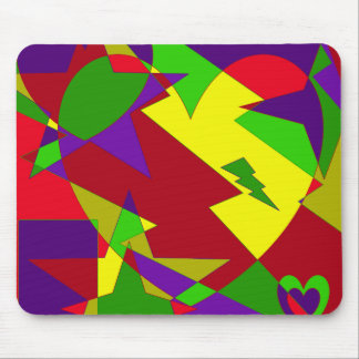 Retro Colorful Abstract Mouse Pad