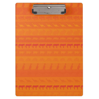Retro Colorful Animals Modern Stripes Pattern #10 Clipboard