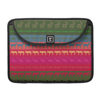 Retro Colorful Animals Modern Stripes Pattern #12 Sleeves For MacBooks