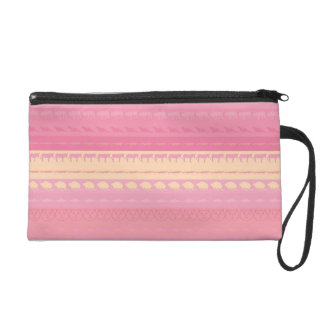 Retro Colorful Animals Modern Stripes Pattern #13 Wristlet