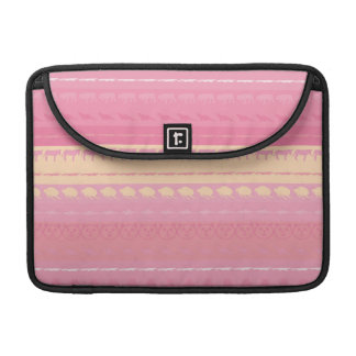 Retro Colorful Animals Modern Stripes Pattern #14 Sleeve For MacBook Pro