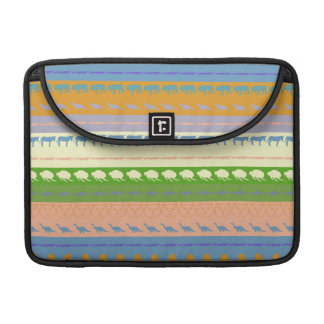 Retro Colorful Animals Modern Stripes Pattern #15 Sleeve For MacBook Pro