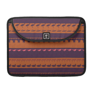 Retro Colorful Animals Modern Stripes Pattern #16 MacBook Pro Sleeve