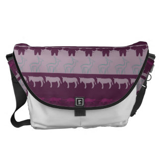 Retro Colorful Animals Modern Stripes Pattern #17 Commuter Bag