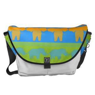 Retro Colorful Animals Modern Stripes Pattern #4 Commuter Bag