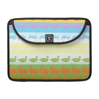 Retro Colorful Animals Modern Stripes Pattern #6 Sleeves For MacBooks