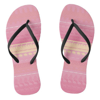 Retro Colorful Animals Pattern #4 Flip Flops
