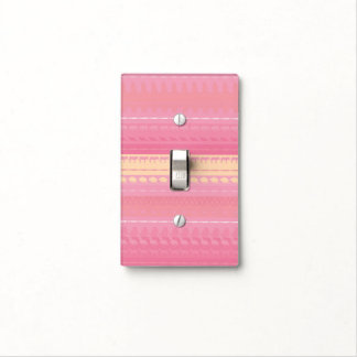 Retro Colorful Animals Pattern #4 Light Switch Cover