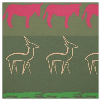 Retro Colorful Animals Pattern #7 Fabric