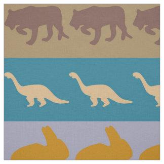 Retro Colorful Animals Pattern #8 Fabric