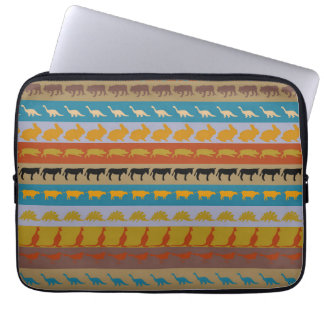 Retro Colorful Animals Pattern #8 Laptop Sleeve