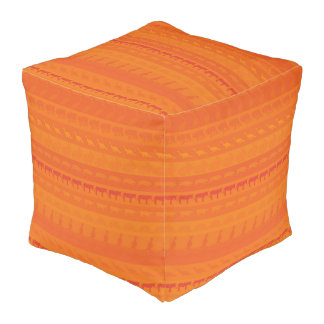 Retro Colorful Animals Pattern #9 Pouf