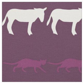 Retro Colorful Animals Pattern Fabric