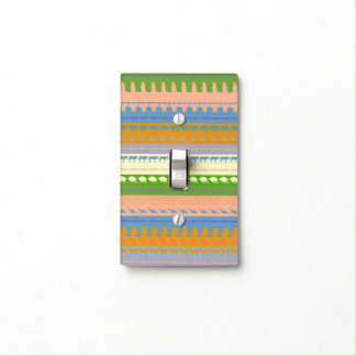 Retro Colorful Animals Pattern Light Switch Cover