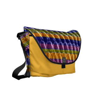 Retro colorful art graphic design courier bags