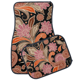 Retro Colorful Beautiful Boho Bohemian Paisley Car Liners