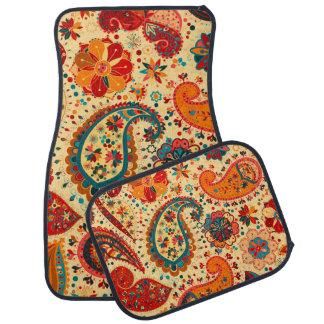 Retro Colorful Beautiful Boho Bohemian Paisley Car Mat
