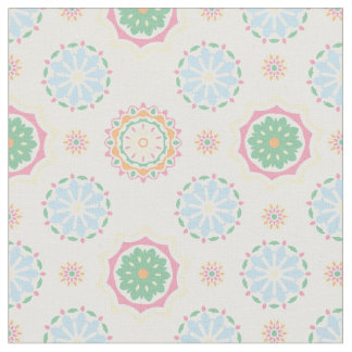 Retro colorful bohemian abstract floral pattern fabric