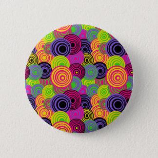 Retro Colorful Circles Button