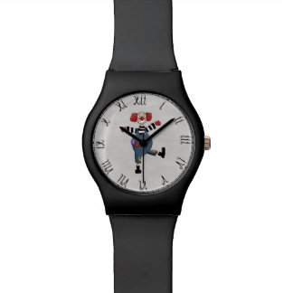 Retro Colorful Circus Clown Watches
