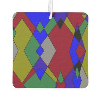 Retro Colorful Diamond Abstract Air Freshener
