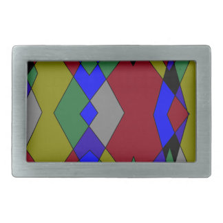 Retro Colorful Diamond Abstract Belt Buckles