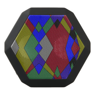 Retro Colorful Diamond Abstract Black Bluetooth Speaker