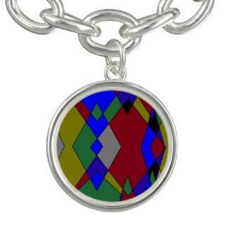 Retro Colorful Diamond Abstract Bracelet