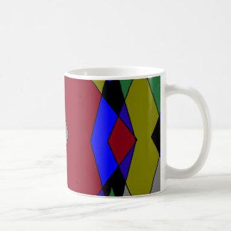 Retro Colorful Diamond Abstract Coffee Mug