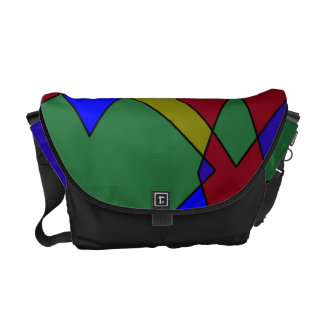 Retro Colorful Diamond Abstract Courier Bags