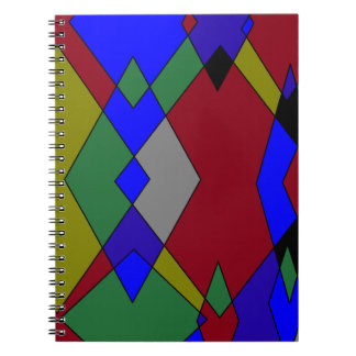 Retro Colorful Diamond Abstract Notebooks