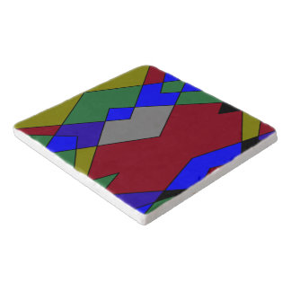 Retro Colorful Diamond Abstract Trivet