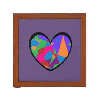Retro Colorful Heart Abstract Pencil/Pen Holder