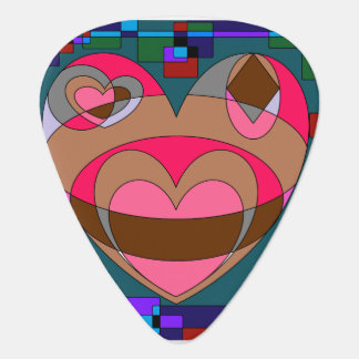 Retro Colorful Heart Abstract Pick