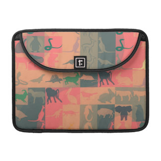Retro Colorful Modern Animals Pattern #2 Sleeves For MacBook Pro