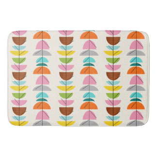 Retro Colorful Nests Bath Mat