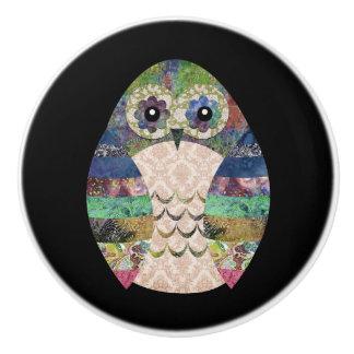 Retro Colorful Owl Boho Bohemian Bird Custom Ceramic Knob