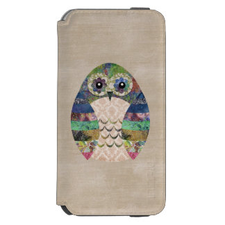 Retro Colorful Owl Boho Bohemian Bird Custom Incipio Watson™ iPhone 6 Wallet Case